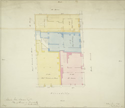 Plan of houses on Piccadilly and Duke Street